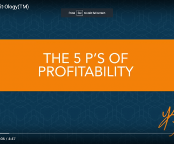 The 5 P's of Profit-Ology(TM)